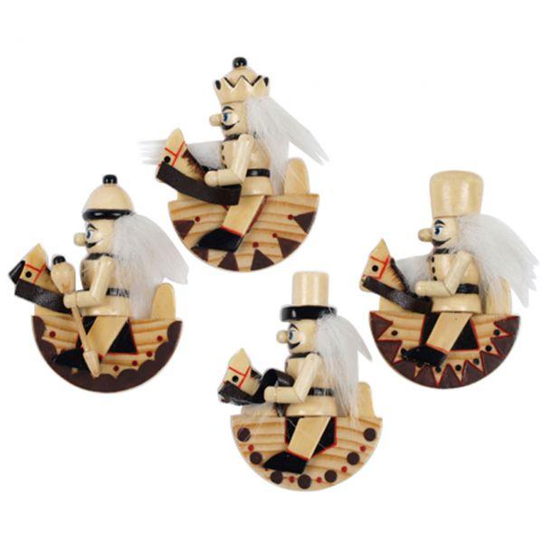 Magnet-Figur kleiner Nussknacker auf Schaukelpferd 6cm