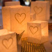 Lichtertüten Herz, gold Länge: 7,5, Breite: 7,5, Höhe: 9,5cm