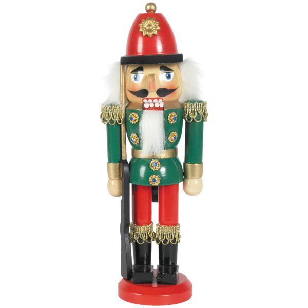Nussknacker Gendarm 25cm, grün-rot