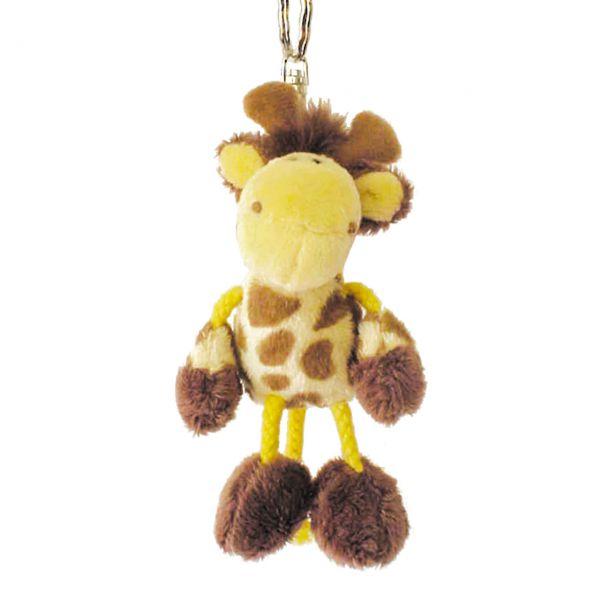 Stofftier Anhänger Giraffe, gelb-braun