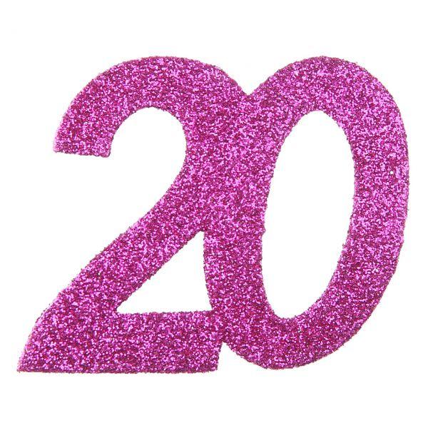 Großes Tischkonfetti 20, H: 6cm, pink