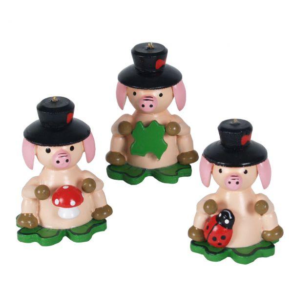Glücksbringer Glücksschwein mit Zylinder