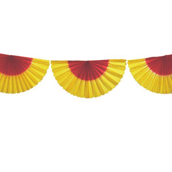 Girlande Fächer, rot-gelb