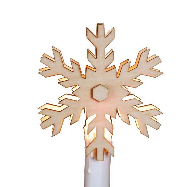 Aufstecker für elektrische Christbaumkerzen Schneeflocke A