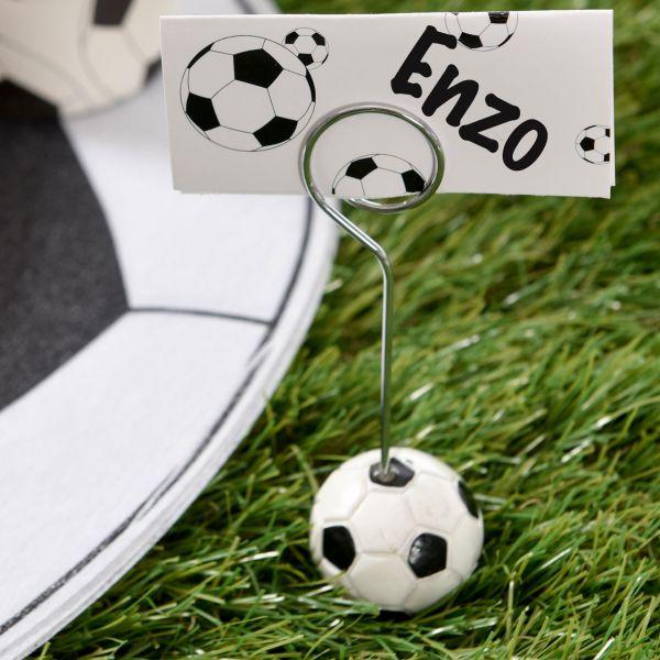 Tischkartenhalter, Fußball schwarz-weiß