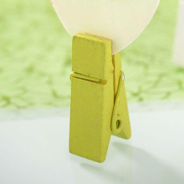 Tischkartenhalter Deko-Klammer, breit, grün