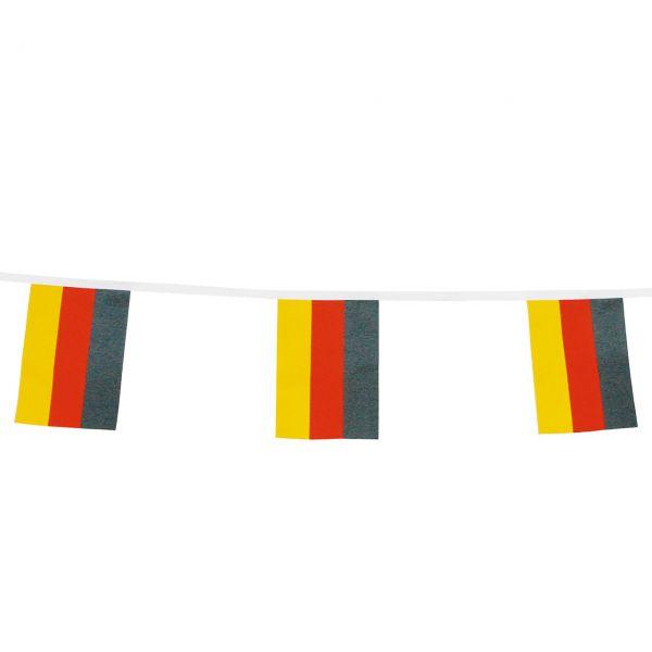 Mini-Flaggenkette wetterfest, Deutschland, schwarz-rot-gold