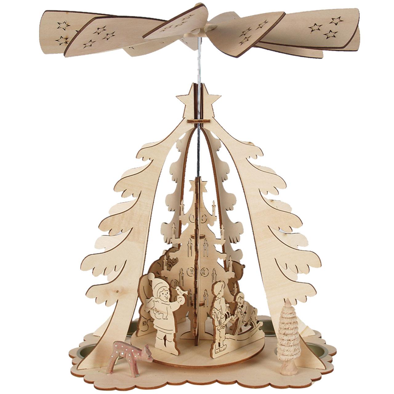 weihnachts pyramide in tannenform mit teelichthaltern. Black Bedroom Furniture Sets. Home Design Ideas
