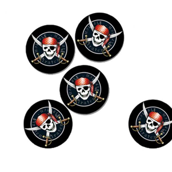 Streudeko Piraten, schwarz-rot