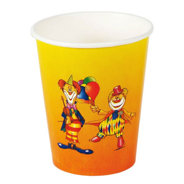 Trinkbecher Clown 200ml, bunt