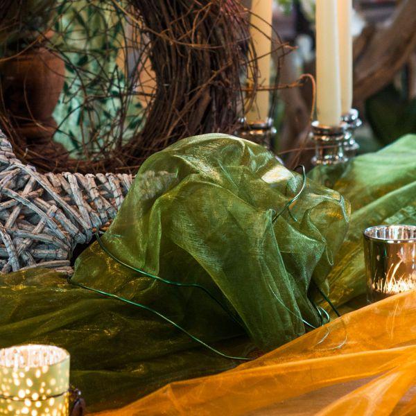 Organza, olivgrün