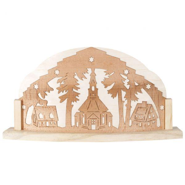 Weihnachtliches Holzbild Kirche