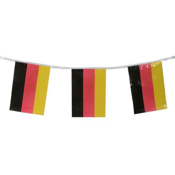 Flaggenkette Deutschland, wetterfest, schwarz-rot-gold