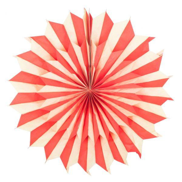 Deko-Fächer Ø 50 cm, rot-gelb