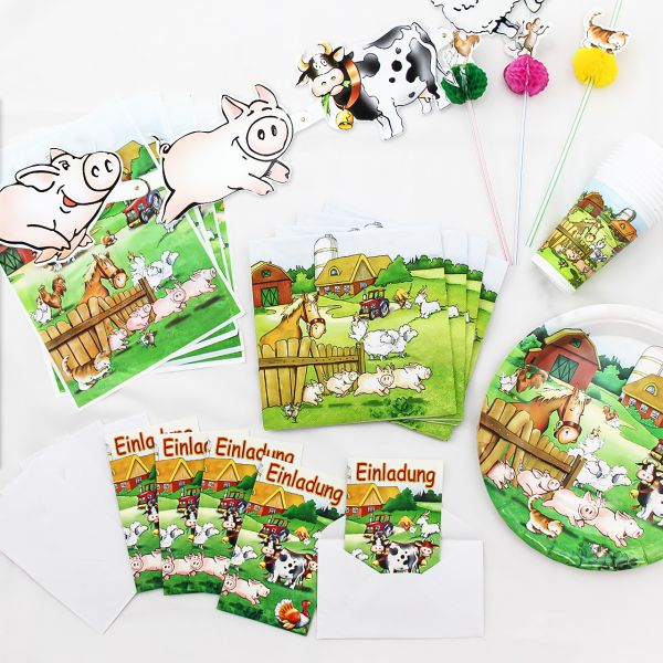 Kinder Geburtstagsset Bauernhof