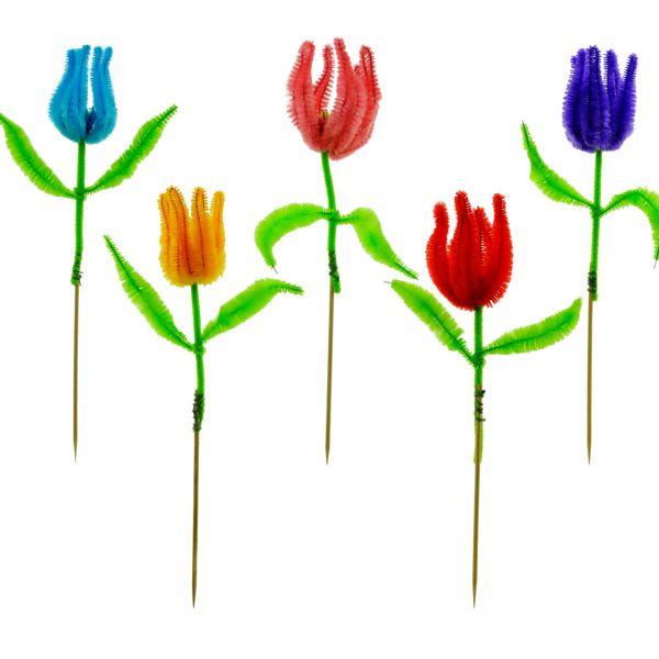 Party-Picker Chenille Tulpen, bunt