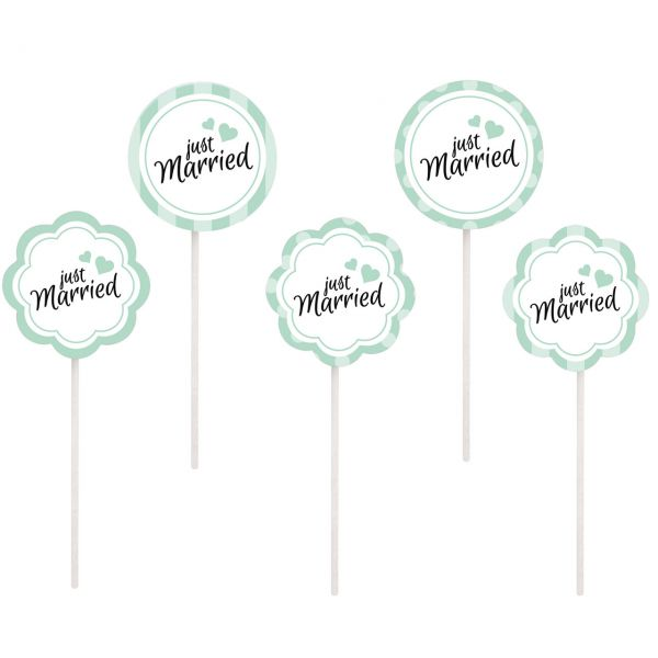 "Party-Picker ""Just Married"", mint"