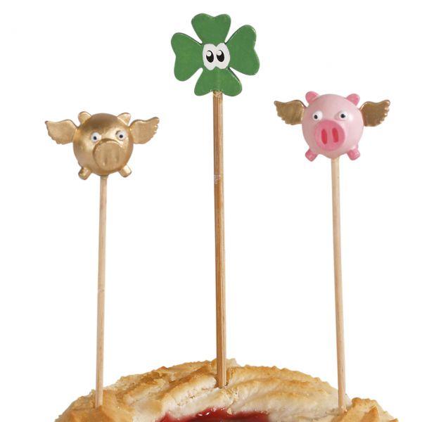Party-Picker Glücksbringer Fliegende Schweinchen & Kleeblatt
