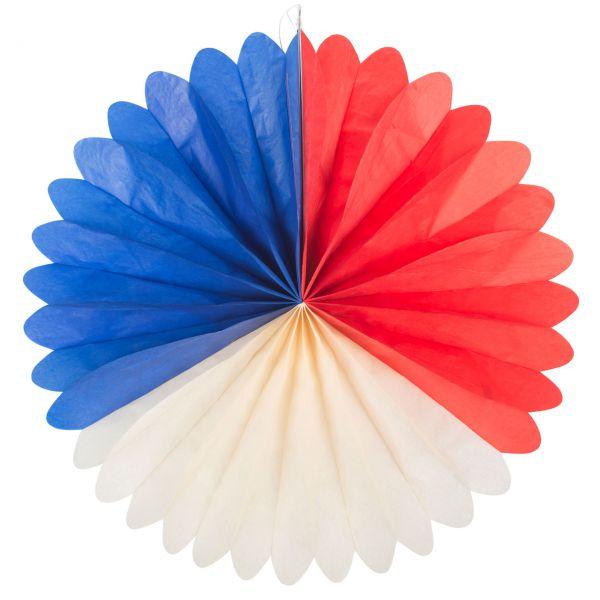 Deko-Fächer, weiß-blau-rot
