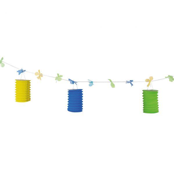 "Girlande ""Lampions"", grün-gelb-blau"