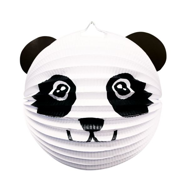 Kinder Laterne Panda, schwarz-weiß