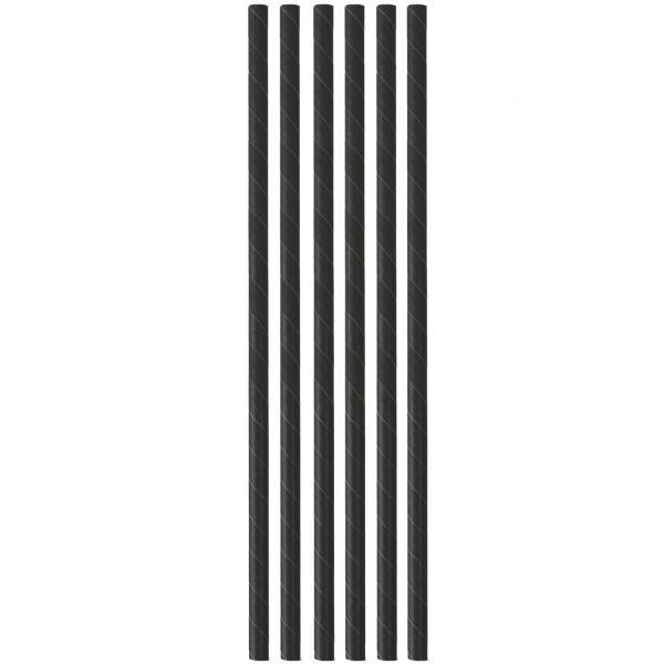 Papier Trinkhalme 0,6 x 20 cm, schwarz