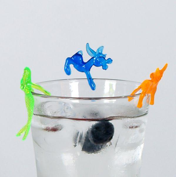 Party Glasmerker, bunt gemischt