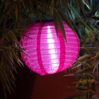 Solar LED-Laterne, wetterfest, rund, bordeaux 20 cm