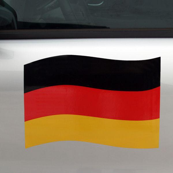 Auto-Magnet Deutschlandflagge, schwarz-rot-gold