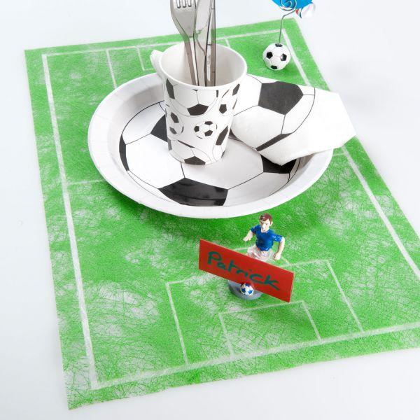 Tischläufer Fußballplatz, B: 30cm, grün