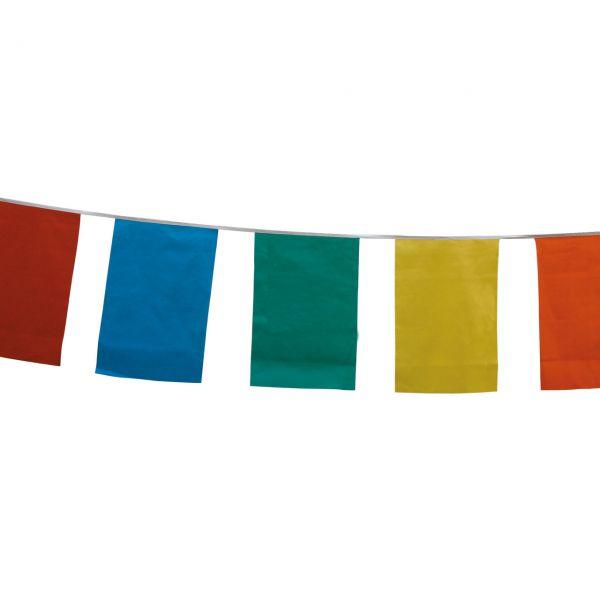 Maxi Flaggenkette 10m, wetterfest, bunt