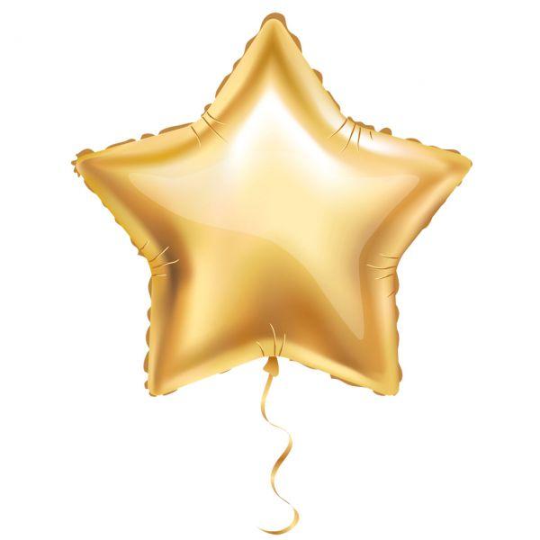 Folienballon Stern, gold