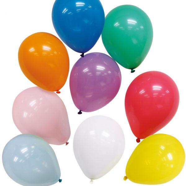 Luftballons, bunt gemischt