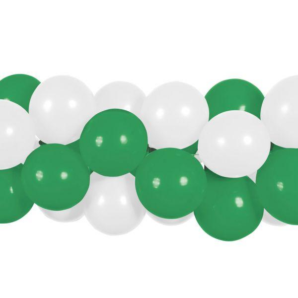 Luftballon Girlande 80 Stück, grün-weiß