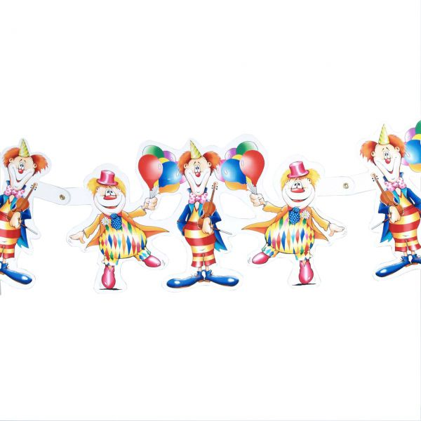 Figuren-Girlande Clown, bunt