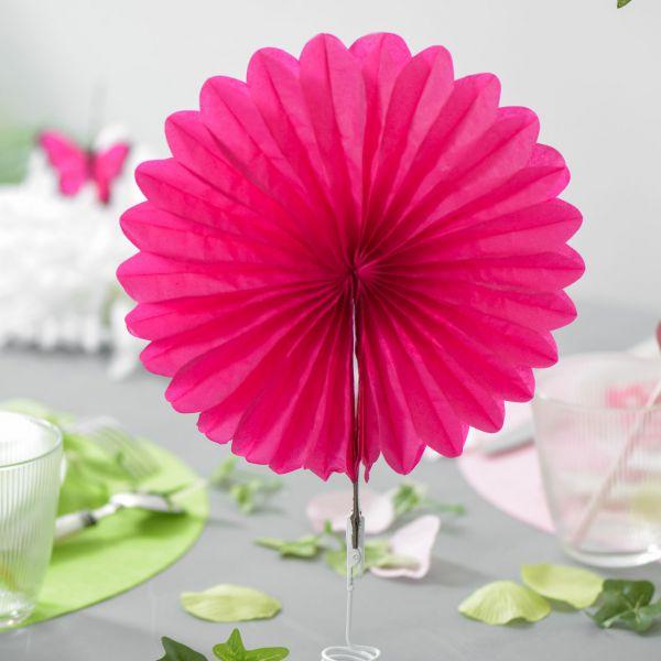 Deko-Fächer uni, pink