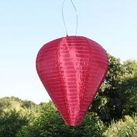 Solar LED-Laterne, wetterfest, Ballon, bordeaux