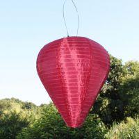 Solar LED-Laterne, wetterfest, Ballon, bordeaux