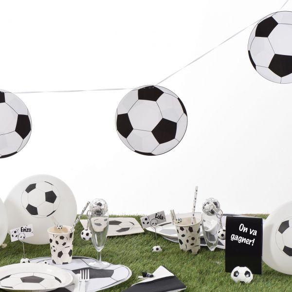 Girlande Fußball, 6m, schwarz-weiß
