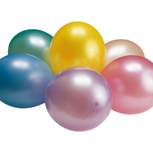 Luftballons Perlglanz, bunte Mischung