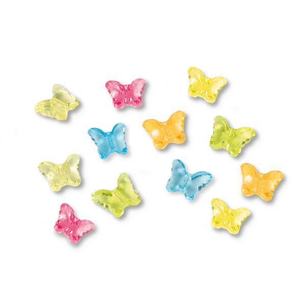 Streudeko Schmetterlinge, bunt gemischt