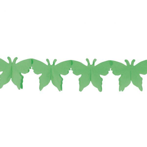 Girlande Schmetterling, grün