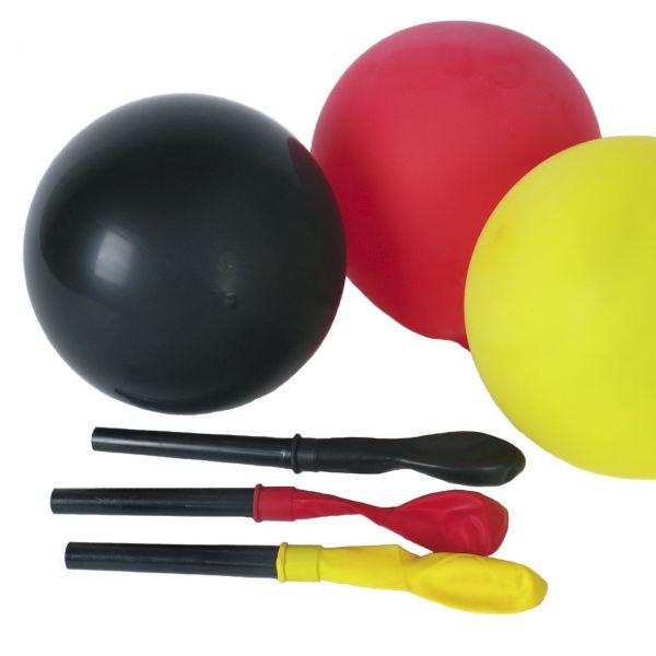Partyheuler mit Luftballons Deutschland, schwarz-rot-gold