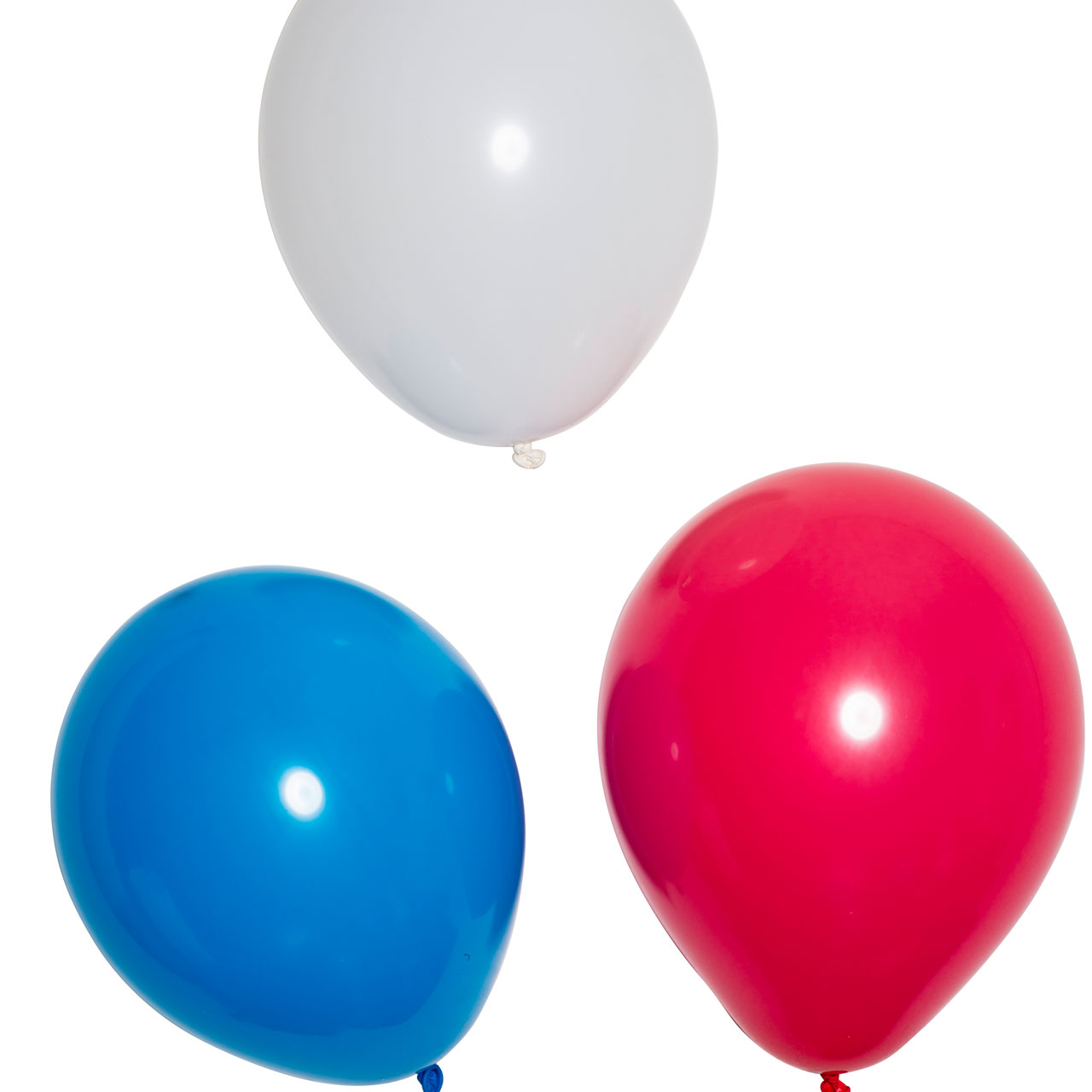 Luftballons, Weiß-blau-rot