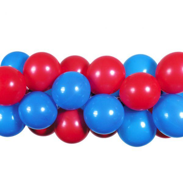 Luftballon Girlande 80 Stück, blau-rot
