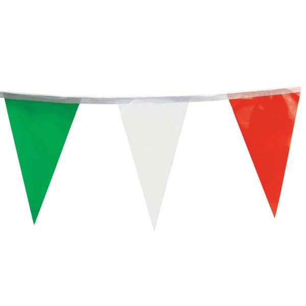 Wimpelkette wetterfest, grün-weiß-rot