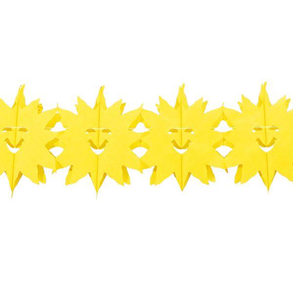Girlande Sonne, gelb