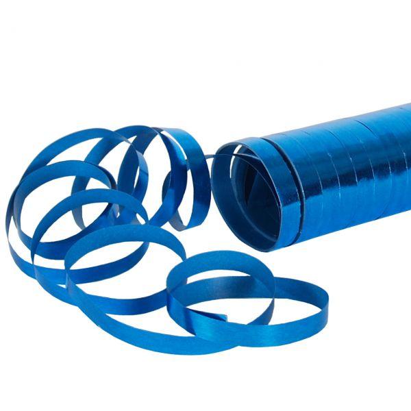 Luftschlangen metallic, blau