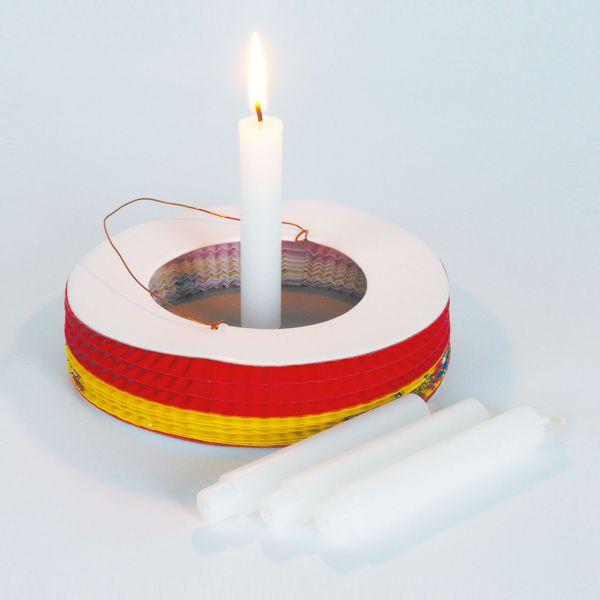 Kerzen Fur Laternen Mit Zapfenfuss Weiss