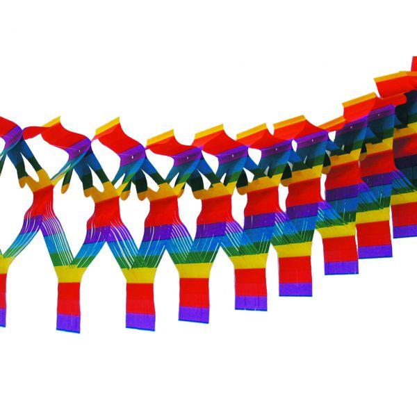 Maxi Fransengirlande XL, H: 67cm, 10m, regenbogen